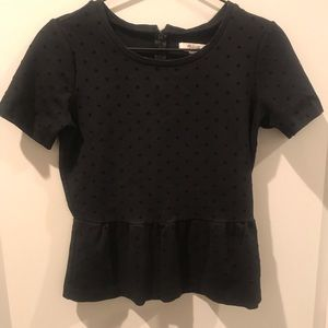Black fitted madewell black top